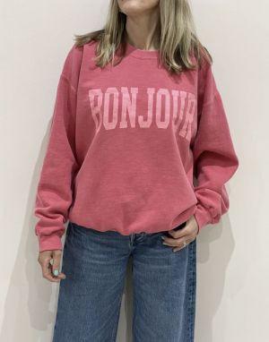 Sundae Tee Bonjour Vintage Sweater - Cherry Red
