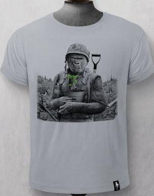 Dirty Velvet Gorilla Warfare T-shirt - Grey
