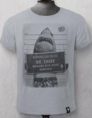 Dirty Velvet Mr-Shark T-shirt - Grey