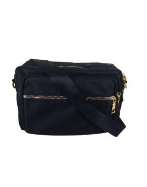 Black Colour Viggy Nylon Bag in Black