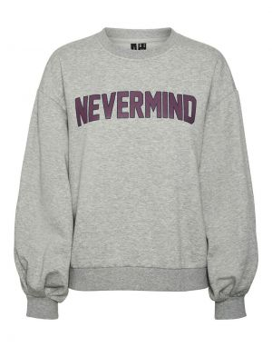Vero Moda Venus Sweatshirt in Grey Melange