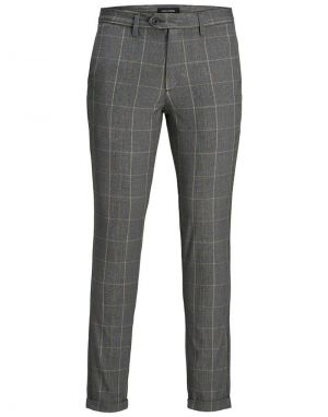 Jack and Jones Marco Yellow Check Trousers