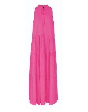 YAS Velo Maxi Dress in Fandango Pink