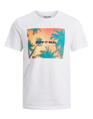 Jack and Jones Summer T-shirt in White