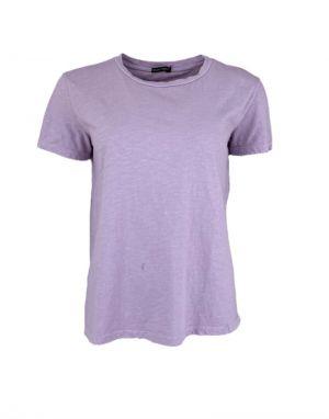 Black Colour Isa T-shirt in Lavender