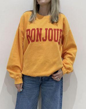 Sundae Tee Bonjour Vintage Sweater - Orange