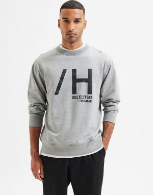 Selected Homme Madrid Sweater in Grey Melange