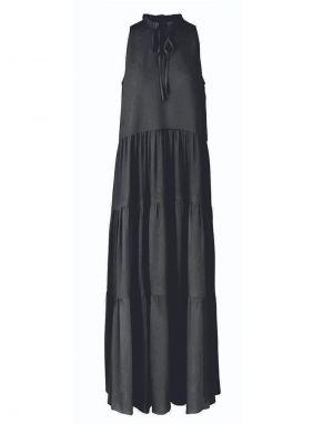 YAS Velo Maxi Dress in Black