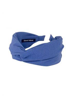 Black Colour Oslo Solid Headband in Blue