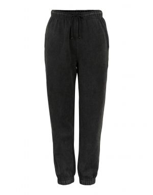 Pieces Chilli Washed Sweat Pants in Black