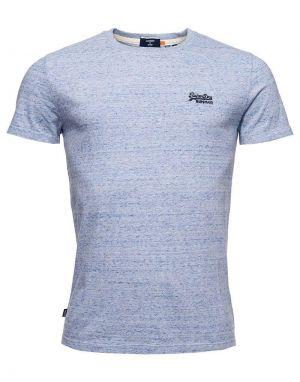 Superdry Orange Label Embroidered T-shirt in Tidal Blue Grit