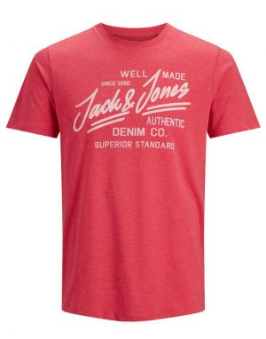 Jack and Jones Jeans T-shirt in True Red