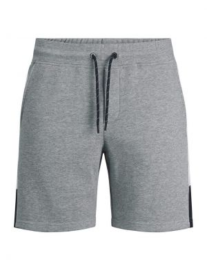 Jack and Jones Logo Blocking Sweat Shorts in Grey