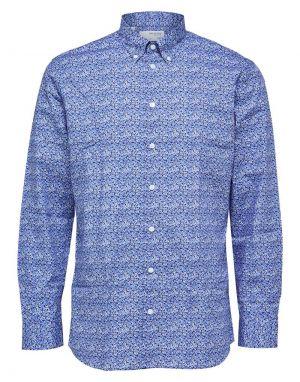 Selected Homme Reg Formal Shirt in Estate Blue Jack
