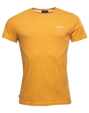 Superdry Orange Label Embroidered T-shirt in Upstate Gold Marl