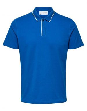 Selected Homme Marcus Polo Top in Blue