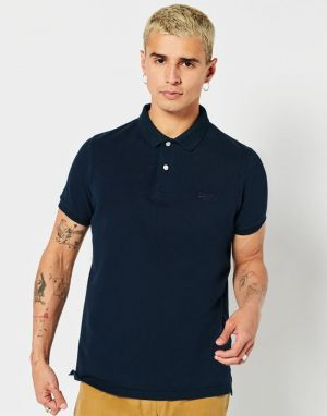 Superdry Classic Pique Polo in Eclipse Navy