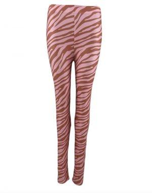 Black Colour Zen Zebra Leggings in Pink Zebra