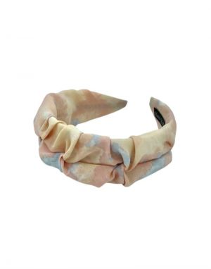 Black Colour Madrid Tie Dye Headband in Peach
