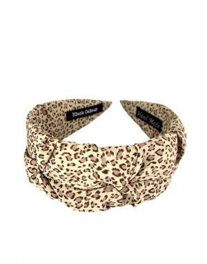 Black Colour Napoli Headband in Leo
