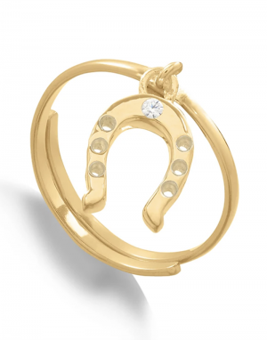 SVP Supersonic Charm Ring in Gold Horseshoe