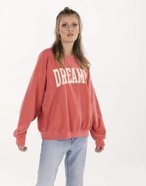 Sundae Tee Dreamer Vintage Sweater in Cherry