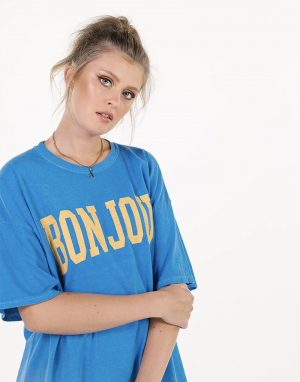 Sundae Tee Bonjour T-shirt in Ibiza Blue