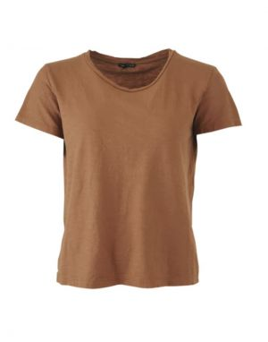 Black Colour Isa T-shirt in Camel