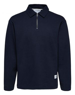 Selected Homme Relax Lexter Polo top in Navy