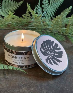 Vanilla Fly Soy Wax Candle - Monstera
