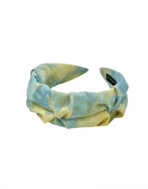 Black Colour Madrid Tie Dye Headband in Blue