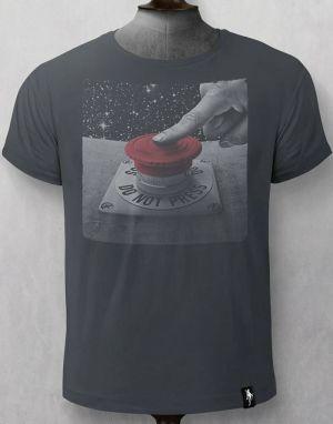 Dirty Velvet Do Not Press T-shirt in Charcoal
