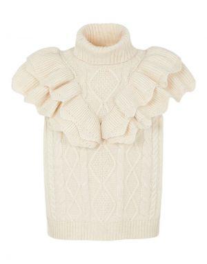 Y.A.S Choko Sleeveless Knit in Eggnog