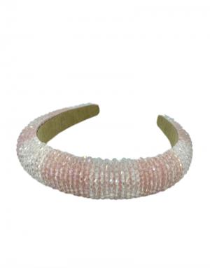 Black Colour Paris Stripe Beaded Headband