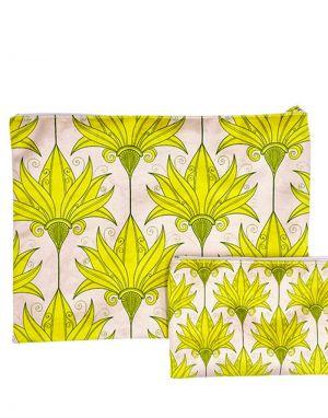 Vanilla Fly Velvet Pouch Large - Print 26