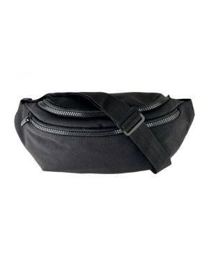 Black Colour Vada Nylon Bumbag in Black