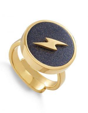 SVP Stellar Large Ring in Lightning Sunstone Gold