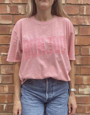 Sundae Tee Bonjour T-shirt - Pink