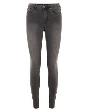 Vero Moda Tanya Piping Jeans in Dark Grey Denim