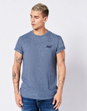 Superdry Vintage Logo Embroidery T-shirt in Fresh Blue Grit