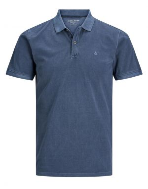 Jack and Jones Washed Polo Shirt in Navy