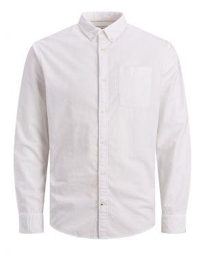Jack and Jones Oxford Slim Fit Shirt in White