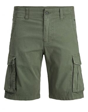 Jack and Jones Zack Cargo Shorts in Dusty Olive