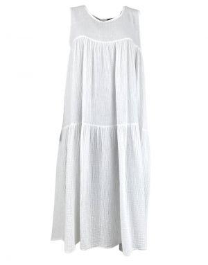 Black Colour Dune Long Maxi Dress in White