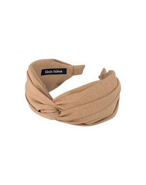 Black Colour Oslo Solid Headband in Beige