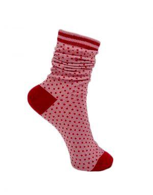 Black Colour Lolly Dot Socks