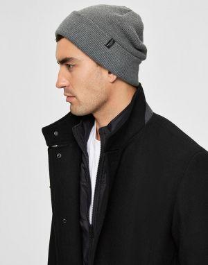 Selected Homme Loyd Beanie Hat in Grey