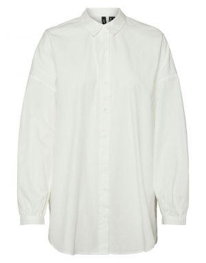 Vero Moda Naja Long Shirt in White