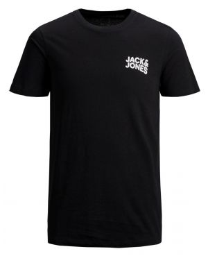 Jack and Jones Corp Logo T-shirt in Black