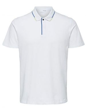 Selected Homme Marcus Polo Top in White